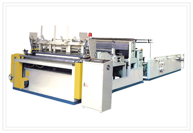 Total Automatic Kitchen paper rewinding and perforating machine