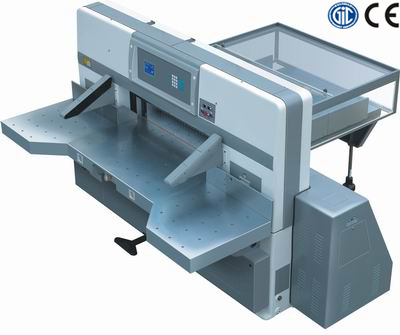 SQZK1370DW microcomputer double worm wheel double guide paper cutting machine
