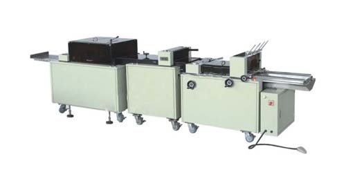 ZX-F Full automatic machine with binding ,folding and three trimmer