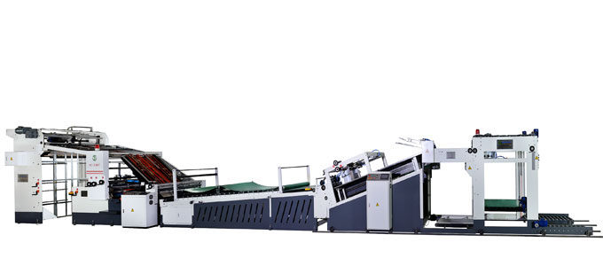 High speed Automatic delivery Flute Laminating machine