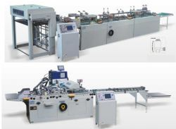 ZX300 Semi-auto Single type portable paper bag and bottom gluing machine (file cover)