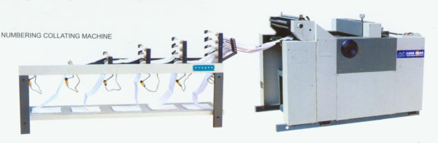 Continuous forms collator with numbering