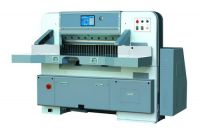 Touch screen single hydraulic double guide paper cutting machine